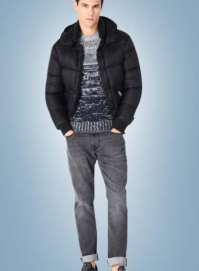 Armani Jeans, marque de vêtements pour hommes dans les boutiques Transfert man, Rennes, Nantes et Vannes.