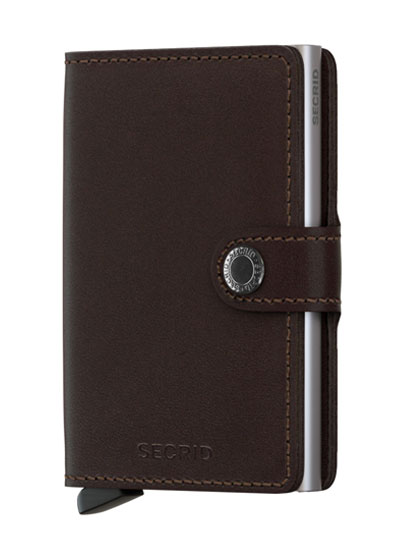 "Porte-cartes marron original ""Slimwallet"""