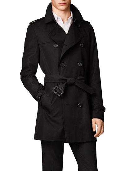 Trenchcoat noir «Kensington» gabardine – Burberry
