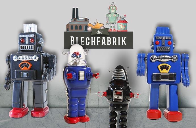 Robots de la marque Blechfabrik.