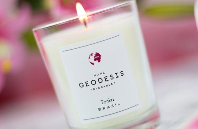 Bougies parfumées de la marque Géodesis.