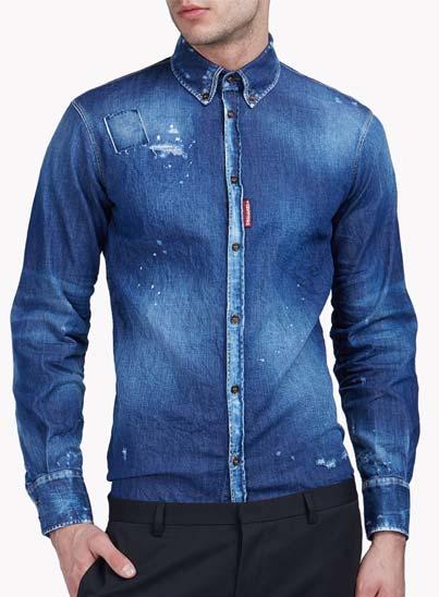 Chemise bleue en jeans – Dsquared2