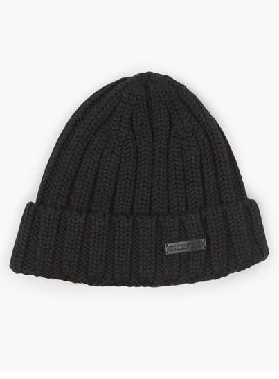 Bonnet noir en laine – Dsquared2