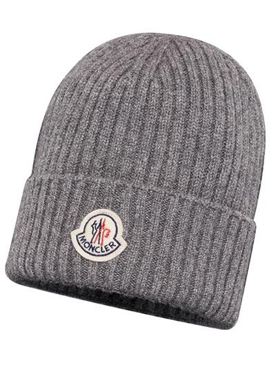 """Bonnet pour homme orné du logo """"Moncler"""" sur le devant."""