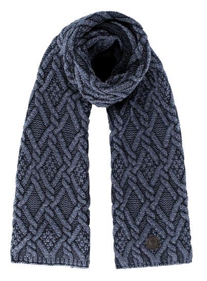 Echarpe bleu en laine pour homme.