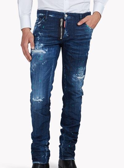 Jeans bleu délavé «Slim» – Dsquared2