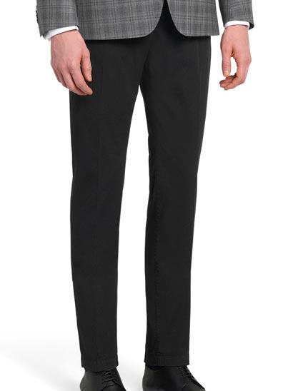Pantalon pour homme taille basse à braguette zippée;