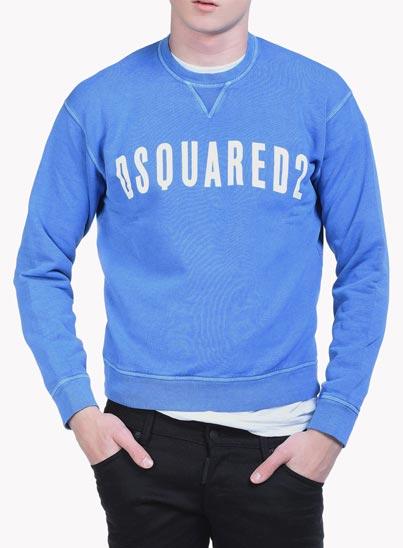 Sweatshirt bleu «D2» – Dsquared2