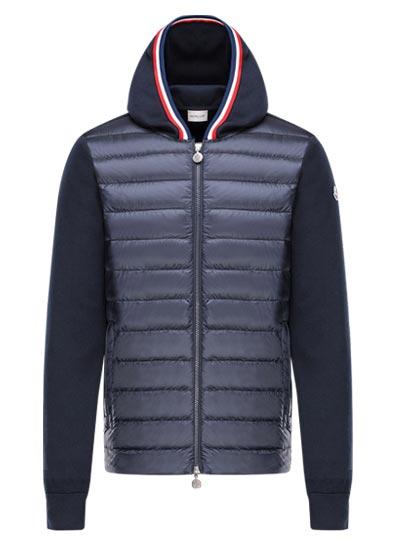 Sweatshirt polyamide et coton pour homme.