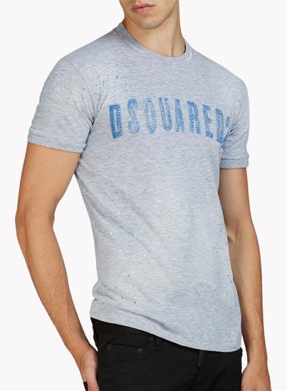 T-shirt gris «Dan» – Dsquared2