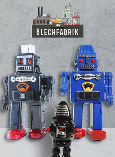 Jouets vintages, robots à remonter ou à piles.