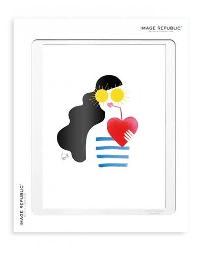 Illustration Coeur avec passe-partout - Image Republic.
