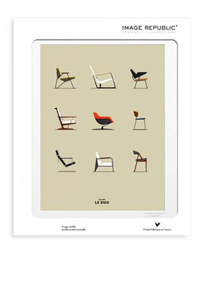 Illustration Chairs avec passe-partout - Image Republic.