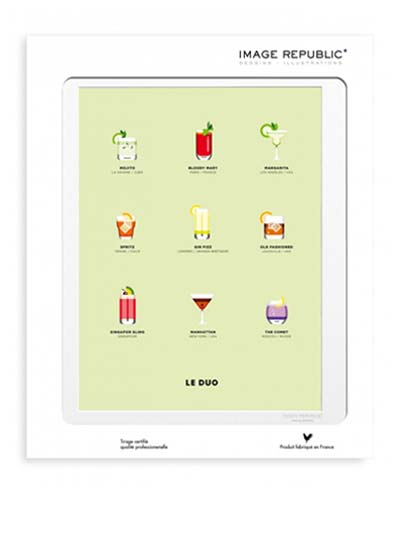 Illustration Cocktails avec passe-partout - Image Republic.