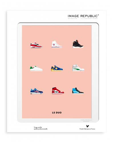 Illustration Sneakers avec passe-partout - Image Republic.