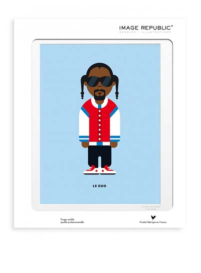 Illustration Snoop Dog avec passe-partout - Image Republic.