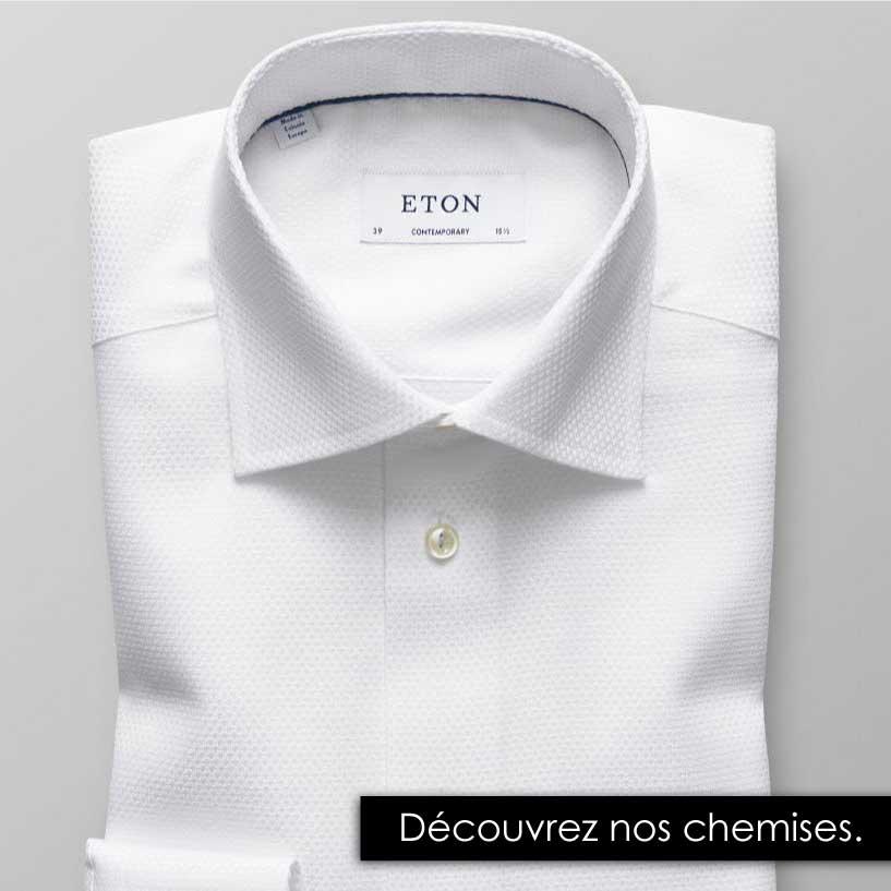 Chemises blanches, bleue, à rayures ou motifs - Hugo Boss