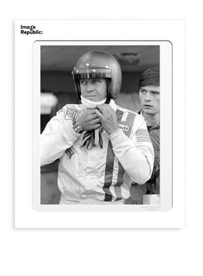 Photo Image Republic pilote de voiture de course Steve Mc Queen