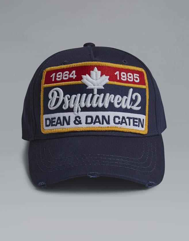 """Casquette Dsquared2 """"Dean & Dan"""". Fermoir réglable et visière rigide."""