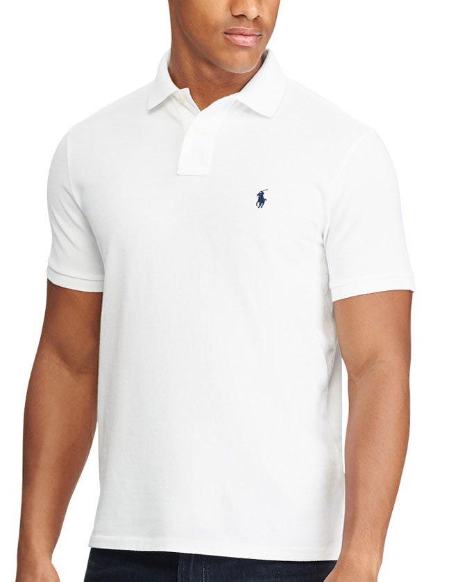 Polo Ralph Lauren blanc, manches courtes pour homme.