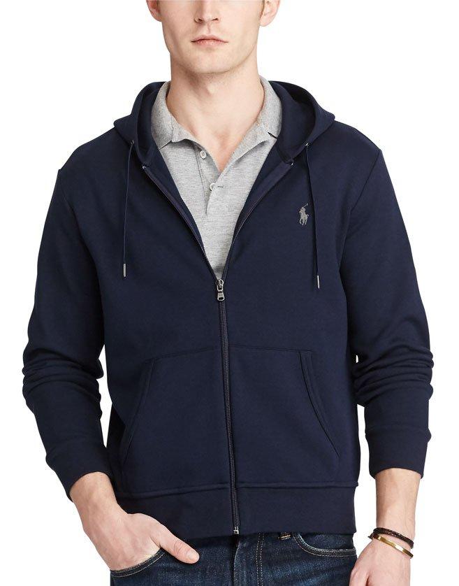 Élégant et sportif grâce à son tissu doux en tricot double, ce sweat à capuche entièrement zippé sera idéal pour vos séances d'entraînement ou pour se détendre le week-end.