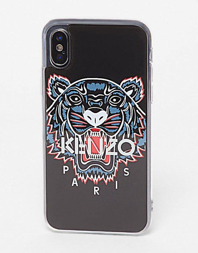 coque kenzo tigre plastique noir