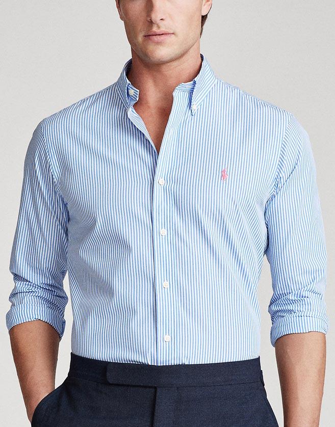 le tissu en coton pur de cette chemise est doté d'une pointe de stretch pour une plus grande aisance de mouvement.