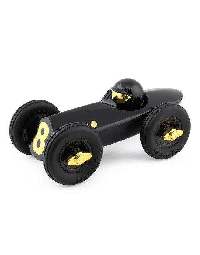 Voiture déco Playforever - le Roadster noir diamant. Plastique ABS avec revêtement UV haute brillance. Poli à la main avec soin.
